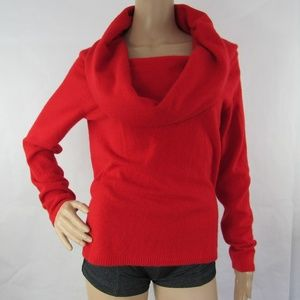Bloomingdale's Cashmere Shirt Sweater Cowl Neck